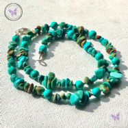 Turquoise Bead & Chip Necklace